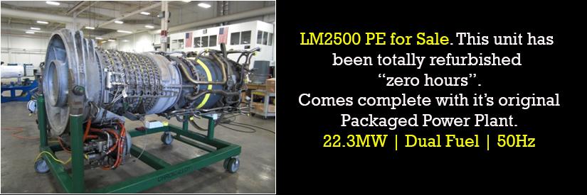 LM2500PE Gas Turbine For Sale